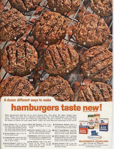 Hamburgers Taste New - McCormick - 1962 (by senses working overtime)