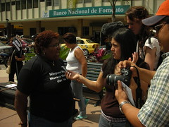 Pro-abortion demonstration in Machala, Ecuadoar - by vesselthefilm
