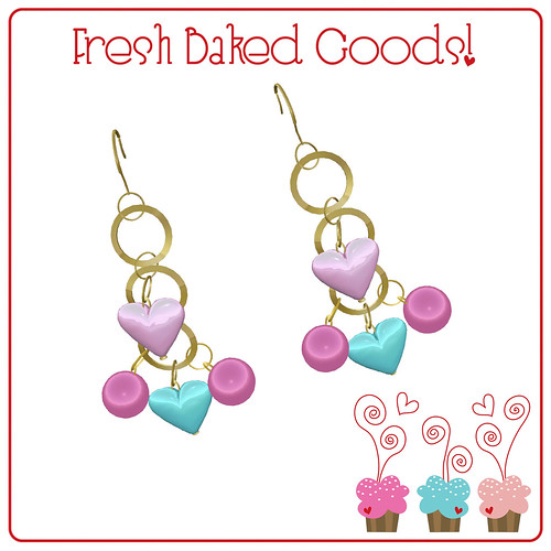 ~*Fresh Baked Goods*~ NEW FREEBIE Signature Color Gold Charm Earrings
