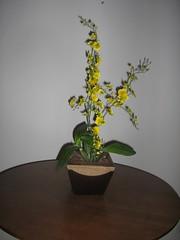 FLORES PERMANENTES/ARTIFICIAIS - ORQUDEA AMARELA (maria de fatima ne) Tags: flores floral de artesanato arranjos permanentesartificiais