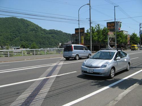 The Google car googling!