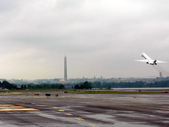 Happy 4th of July - Reagan National Airport (garyhymes) Tags: wet dc washington airport flight dal delta national rainy american reagan dca takeoff runway nationalmonument md88 deltaairlines onlythebestare