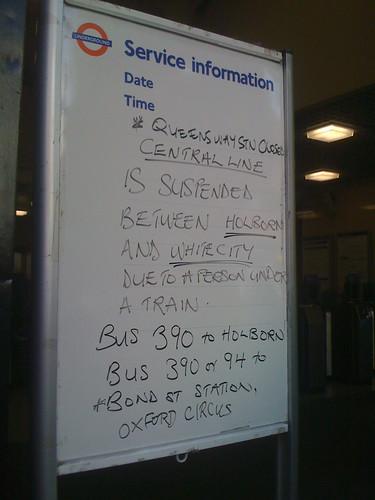 Person under a train?!