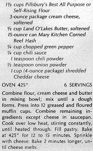 Bake Off 1967 Tijuana Hash recipe