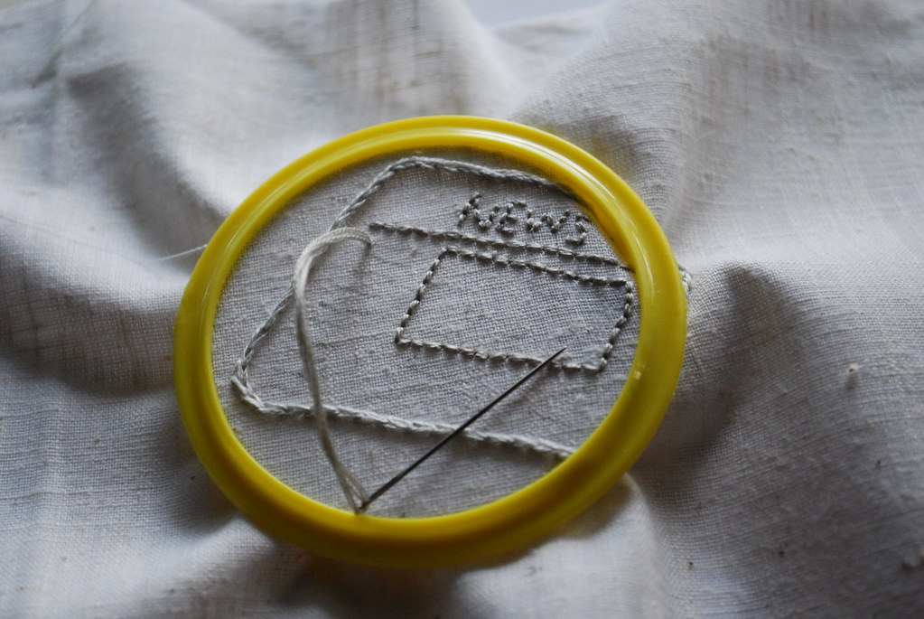 Remade Paper embroidery