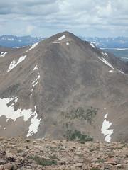 Mt. Democrat as seen from Mt Bross (Jenni & Brett) Tags: 14er mtlincoln mountainsrockymountains mtdemocrat mtcameron mtbross elevation40004500m 14172 14238 14286 14148 altitude14148ft mountainsmosquito summitmtdemocrat altitude4312m