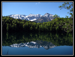 Mirrored Mountains (Cold Mountain) Tags: mountain lake mirror