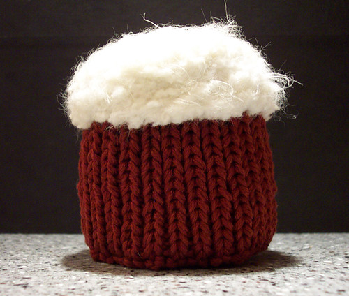 Red velvet knitted cupcake