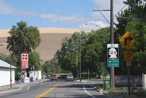 US 12 @ SR 124 east terminus