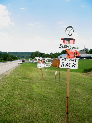 127 Yard Sale (2) - Stretch of Signs