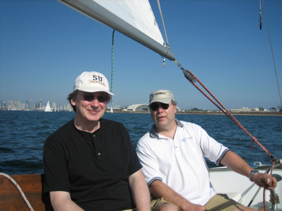 Sailing with Henry, SD, August 2008