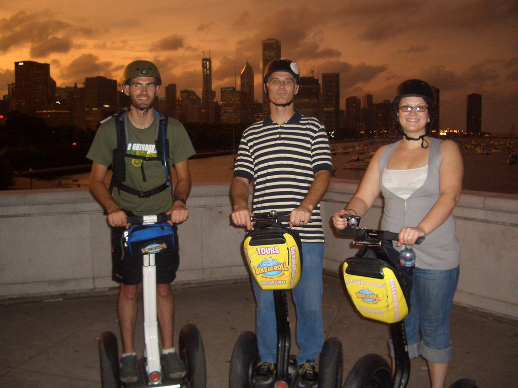 My family on Segways