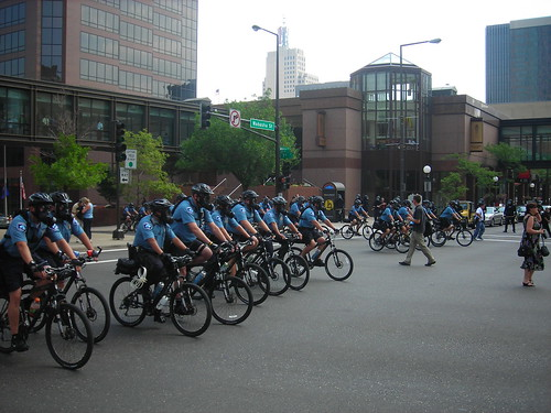Scary Gasmask Bike Police