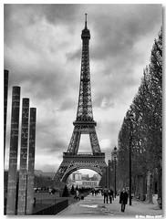 Paris_torre_eiffel04bw (vmribeiro.net) Tags: paris france tower torre tour frança eiffel jardim champdemars abigfave