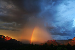 There's no place like home... (Laura Travels) Tags: arizona southwest rainbow desert sedona monsoon nophotoshopneeded impressedbeauty visiongroup vision100
