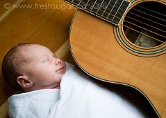 guitar (tvchicklet) Tags: music baby smile infant guitar newborn instrument strings swaddle