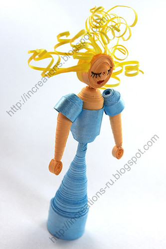 3D Quilling. Lady in blue.