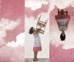 Day 168/365: Head For the Clouds (Olga Sotiriadou) Tags: pink selfportrait texture clouds photomanipulation photoshop triptych explore sp 365 imagemanipulation 366 project365 fgr 365days explored explorefrontpage