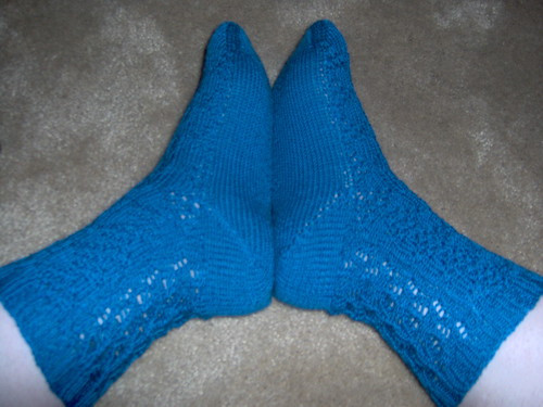 Jenny Socks, View 2, Contest Socks