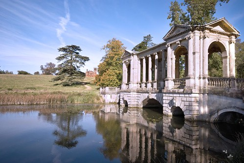 Stowe Gardens Palladian Bridge, by Lady Gooner