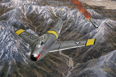 F-86 Sabre vs Mig-15 Korean War (Hyong) Tags: airplane fighter aircraft aviation air jet sabre airforce usaf pilot warbird koreanwar f86  mig15 northamerican            15