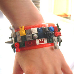 Lego Rule's the world Ruler Bracelet (Strawberry Anarchy) Tags: red fun punk lego kitsch jewelry teacher plastic gift legos cuff mad ruler cyber