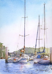Breathtaking winter morning Toba    (pinboke_planet) Tags: japan watercolor sketch yacht collection watercolors mie toba   yuzokomori