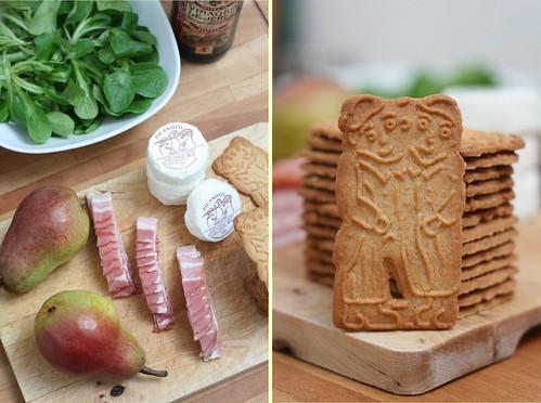 Ingrédients salade chèvre & Speculoos