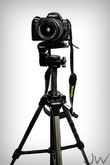 My Baby (JOEL WRIGHT PHOTO) Tags: black stand nikon photographer tripod young strap nikkor teenage d40