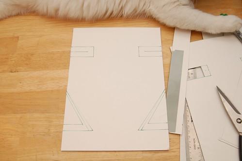 Cutting out the cardboard stiffener