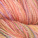 """Rose Garden"" Seawool Fingering Weight Handspun (Dyed by Creatively Dyed), 3 day auction"