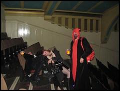 All partied out! (Flickr Widow) Tags: halloween nun devil fancydress pvc clubnoir