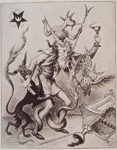 004-Asalto de los demonios- El mago victima de las cuatro fuerzas elementales Stanislas de Guaita. Le Serpent de la Genèse Le Temple de Satan 1891