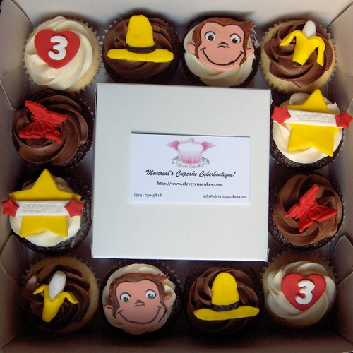Curious George Cupcake Box by clevercupcakes.