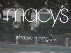 Macy*s windows in progress