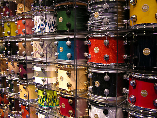 drums wallpaper. Wall of DW Drums - 2008 NAMM