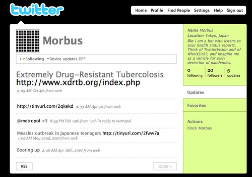 Twitter: Morbus (Flu Tracking)