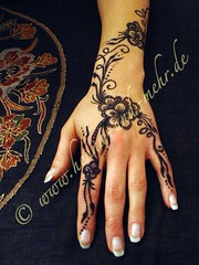 Painted hand with khidab