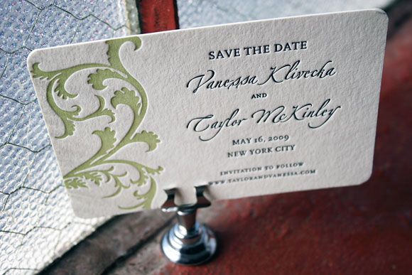 Letterpress save the dates - Vettore design, by Smock