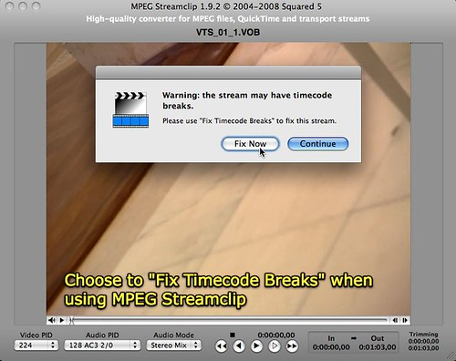 MPEG Streamclip - Fix Timecode Breaks