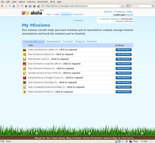 Akoha - My Missions