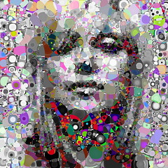 Grey Galore (Village9991) Tags: people madonna mosaics photomosaic ciccone