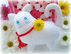 Gatinho fofo!!! (Lidia Luz) Tags: amigos cat square handmade crochet gato granny amigurumi croch quadradinho gislene