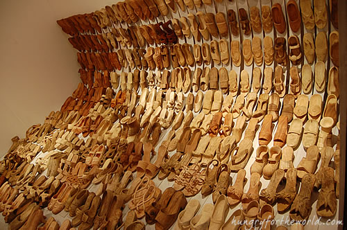 Oh My Gulay Baguio - Shoe Wood Carving Exhibit