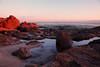 Tide Pools in Sunset Light (segamatic) Tags: canon eos 5dmarkii 5dmkii sunset malibu pointdume beach rocks tide pools water canonef24105mmf4lisusm landscape photofaceoffwinner pfogold pfoisland04