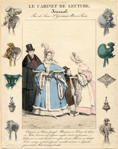 French fashions and hats, 1830