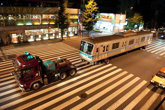 東京メトロ東西線05系05-105F 05-105川崎港へ陸送される
