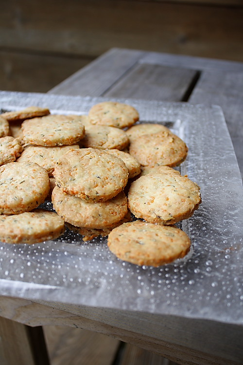 Rosemary and Parmesan Crackers