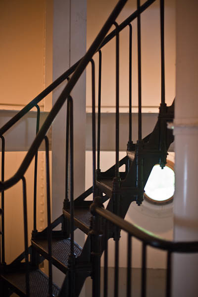 North Point Lighthouse Circular Staircase with Port Hole, Milwaukee Wisconsin