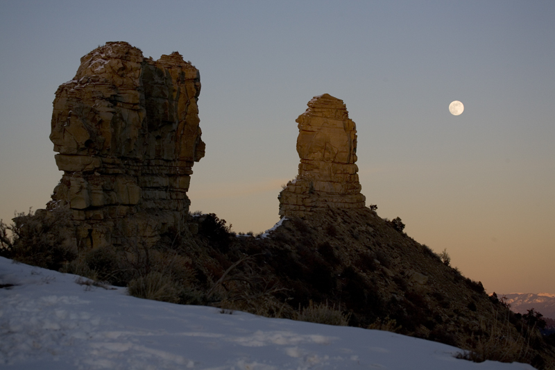 Moonrise Over Chimney Rock Living The Scientific Life